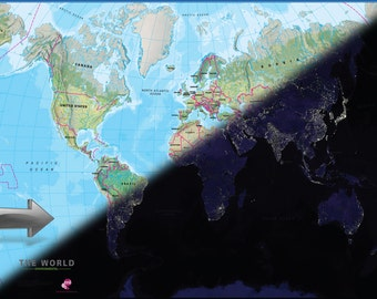Motion World Map Poster