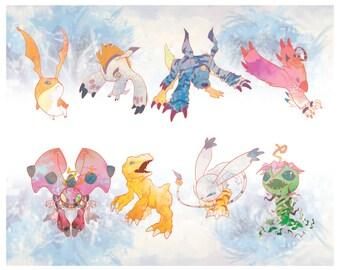 Full Digimon Sticker Set (s1)