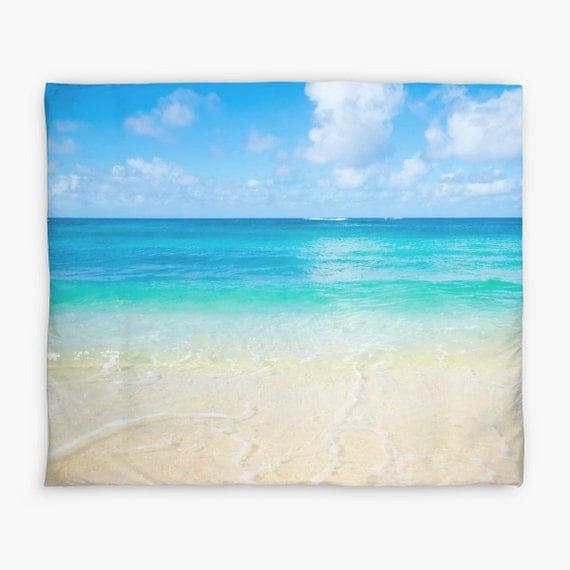 Oc an plage hawa enne housse de couette personnalis mer - Housse de couette mer ...