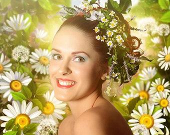 summer portrait printed on aluminium 3mm wall decoration individual item