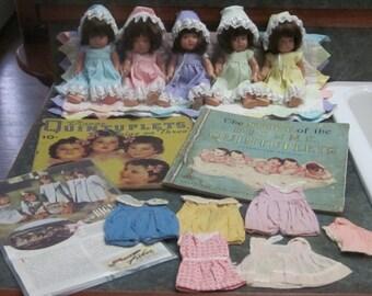 Dionne Quintuplets 8 Inch Madame Alexander Dolls 2 Books Plus More 1934