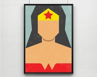 Posters, Prints,wonder woman, retro print poster, retro print poster, posters, wonder woman art, wonder woman print