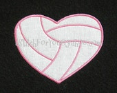 VOLLEYBALL heart shape Applique - INSTANT Download Machine Embroidery Design by Carrie