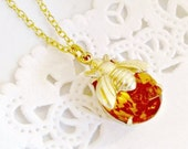 RESERVED for Maray Lopez - honey bee necklace topaz rhinestone bee jewelry vintage golden teardrop rhinestone bee charm nature inspired
