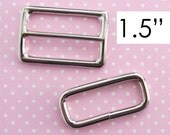 Adjustable Strap Hardware 1.5 Inch | Messenger Cross Body Bag Strap Adjuster | Triglider and Rectangle Ring Set