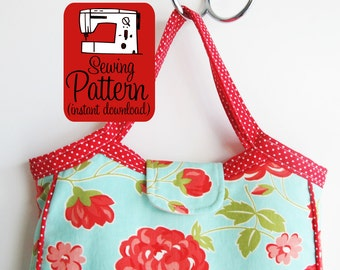 Granny Tote PDF Sewing Pattern | Handbag Project Tote Bag with Pockets Pattern