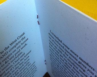 Kerbloom letterpress zine about moving