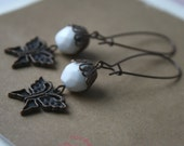 Trudy antiqued copper butterfly earrings