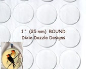 20 25mm, 1 inch, round circle Epoxy Resin Stickers-Domes-Dots-Drops..Fast and Easy..Peel and Stick..No Mess birthday craft