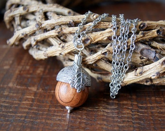 Woodland Acorn Necklace - Acorn Necklace with Silver Acorn Cap - FREE GIFT WRAP