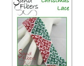 Peyote Pattern - Christmas Lace Peyote Cuff / Bracelet  - A Sand Fibers For Personal/Commercial Use PDF Pattern