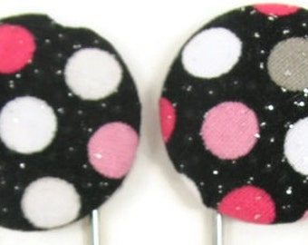 Set of 2 Jumbo Paperclips in Black, White, and Hot Pink