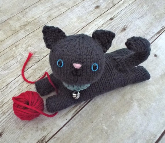 Knitted Amigurumi Cat Pattern : Amigurumi Knit Kitten Pattern Digital Download