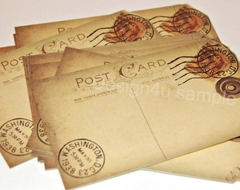 Set of 150 WEDDING GUEST POSTCARDS, Wishing Tree,Travel theme, Guestbook alternative, Vintage