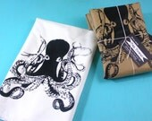 octopus kitchen towel - CUTE  tea towels screen printed design home and living gifts for kitchens nautical underwater animal prints