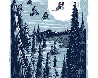 Man from the Moon - Mini Art Print