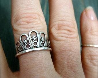 floret ... sterling stack ring