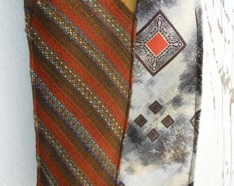 Necktie Sling Purse Upcycled Men's Necktie Handbag Shoulder Bag, Small shoulder bag small purse, womens handbag, sling bag