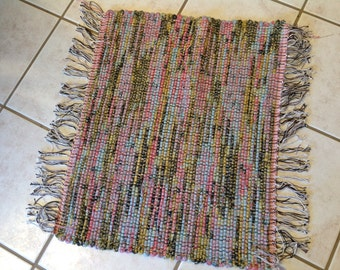 Rag Rug reuse blanket  20 inches long by 26 inches wide