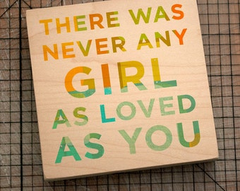 "Never Any Girl Art Block Sign- 4""x4"" Art for Girls Room- Art for Kids Room- Art for Nursery- Kids Gift for Daughter- Gifts for Daughter"
