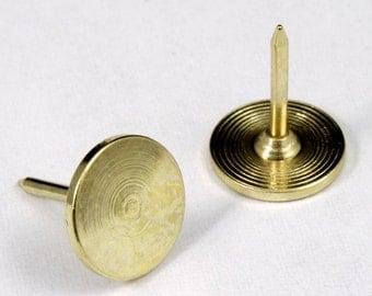 11mm Gold Tone Tie Tack w/ 10mm Pad #MFE018
