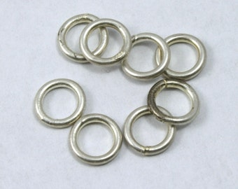 6mm Antique Silver Soldered Jump Ring #RJF022