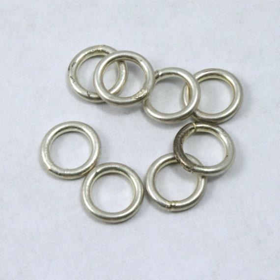 6mm antique silver soldered jump ring rjf022