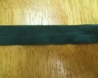FOLDOVER Elastic Army Hunter GREEN 3/4 inch 10 yds Lingerie Baby Headbands Doll Hair Ties