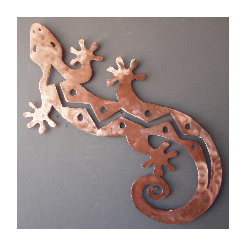 Metal Gecko Lizard Wall Art Southwest Art Copper By
