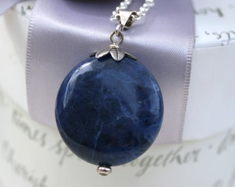Sodalite Pendant with Sterling bail - chain not included