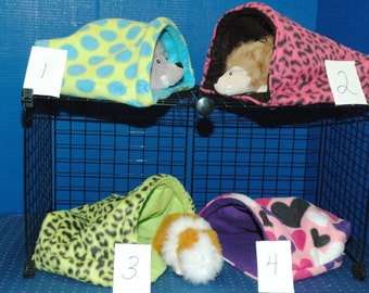 Guinea Pig, Hedge Hog, XX LARGE 14x14 Snuggle Hut,FREE standing snuggle bag guinea pig accessories sleep sack fleece sleep sack
