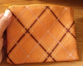 Autumn ----med zippy pouch-- handproduced-- ( ship in 1 day )