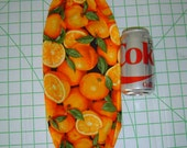Orange on Black Silver Decor Grocery Bags Holder Dispenser Organizer
