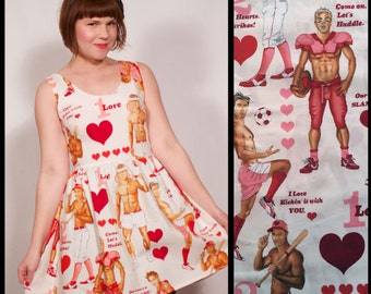 Valentine's Studs Love Game Tank Top Party Dress MADE TO ORDER