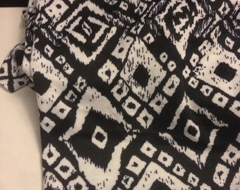 Polyester Double  Knit  Print 1/2 Yard Remnant  Diamond Tribal