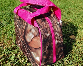 NEW Pretty in Pink Camo Insulated Lunch Tote Includes Monogram