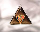 Triangular ornament fused glass