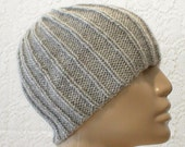 Silver grey ribbed beanie hat, men's hat, women's hat, grey hat, ribbed hat, biker cap, beanie hat, chemo cap, snowboard hat, knit hat