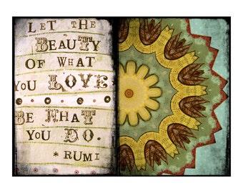 """INSTANT DOWNLOAD - Rumi Love Mandala 8""""x10"""""""
