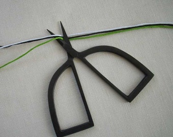 black BELL shaped embroidery scissors for knitting, cross stitch, crafts