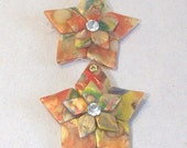 pif Bright metallic rainbow star ornaments set of 2