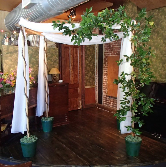 Wedding Chuppahs For Sale: Chuppah Wedding Canopy With White Organza Grapevines And