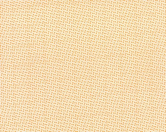 """33"""" piece/remnant - SALE - Miss Kate - Dot in Tangerine Orange: sku 55094-16 cotton quilting fabric by Bonnie and Camille for Moda Fabrics"""