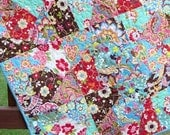 Baby Quilt Modern Crazy Patch Crib bedding Nursery bedding Scrappy Quilt Baby Girl