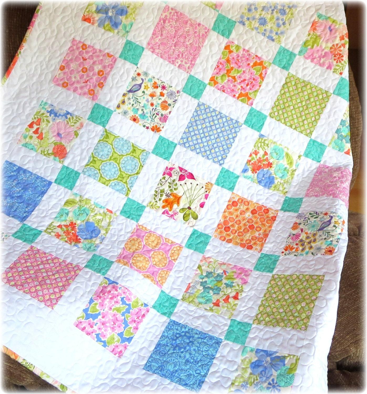 baby girl quilt honey honey fabrics by kate spain nursery