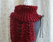 Wreckage Scarf in cherry red - Made to Order