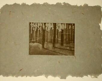 Afternoon Shadows original aquatint etching on handmade paper