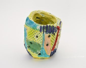 Daffodil Carved Porcelain Vase