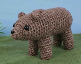 PDF Brown / Grizzly Bear amigurumi CROCHET PATTERN