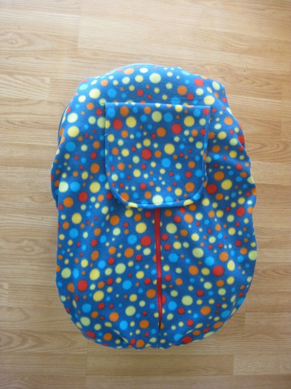 polka dot fleece infant car seat cover. Black Bedroom Furniture Sets. Home Design Ideas